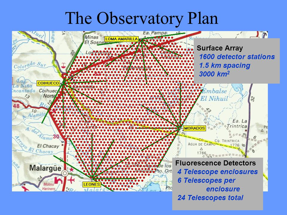 The Observatory Plan Surface Array 1.5 km spacing 3000 km2