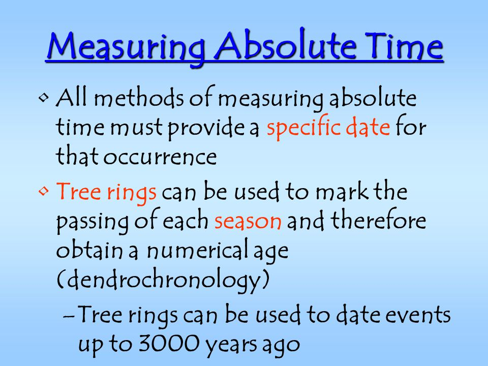Say the Method Absolute Dating Dendrochronology Is An thing youll most