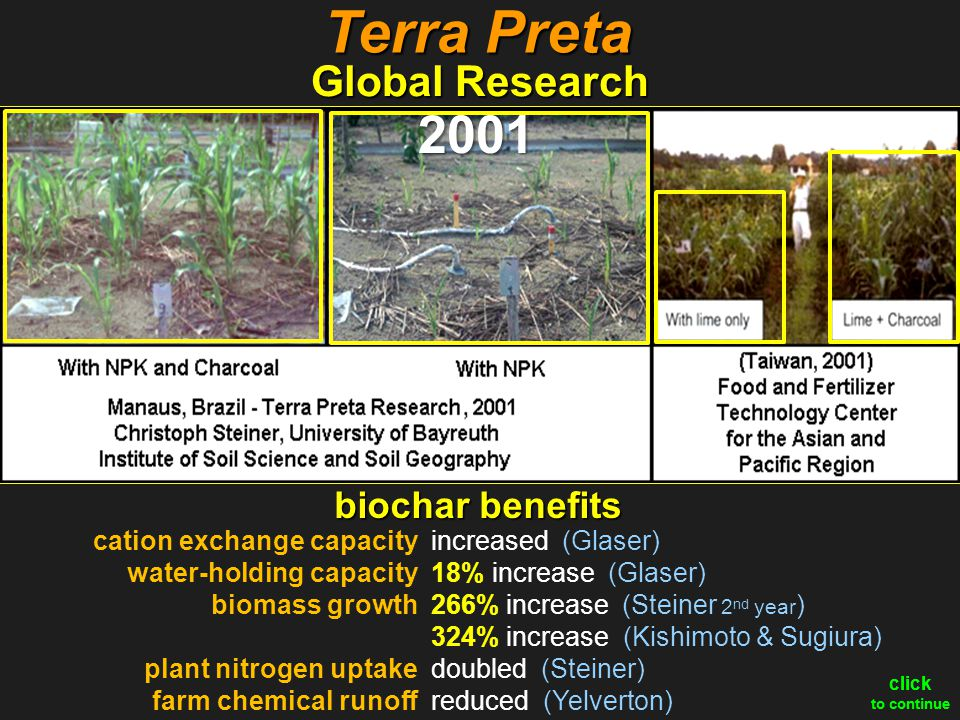 Terra Preta 2001 Global Research biochar benefits