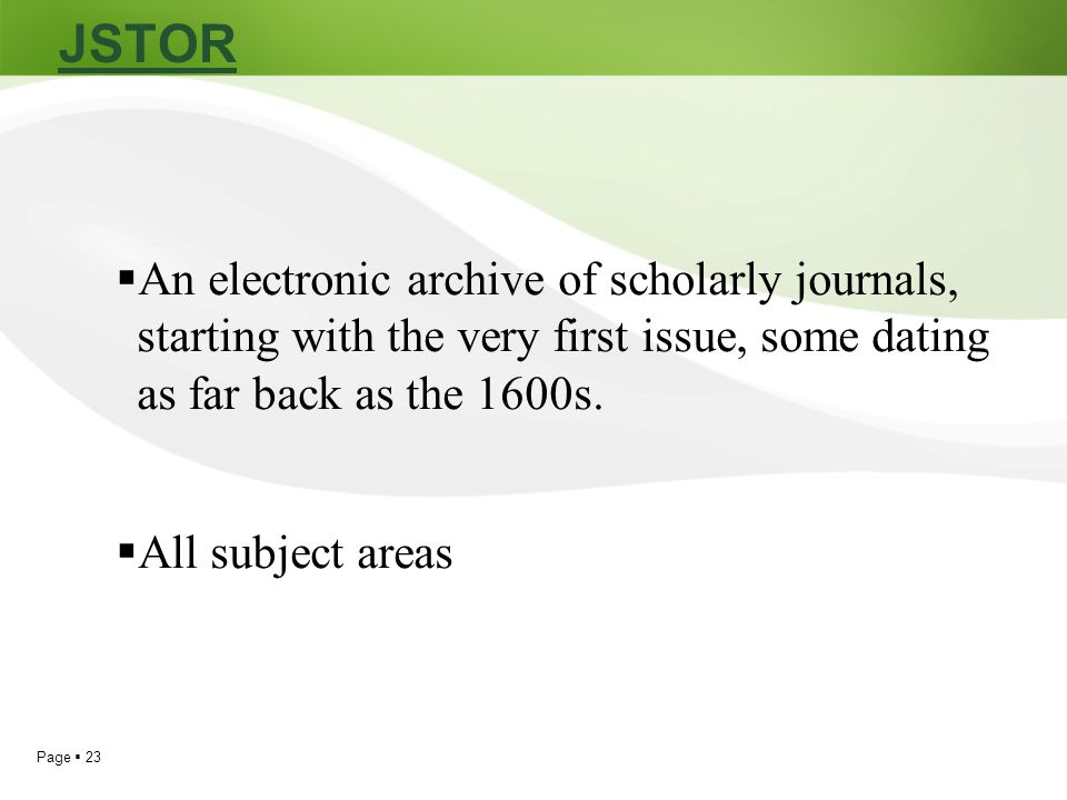 Find Academic Journal Articles