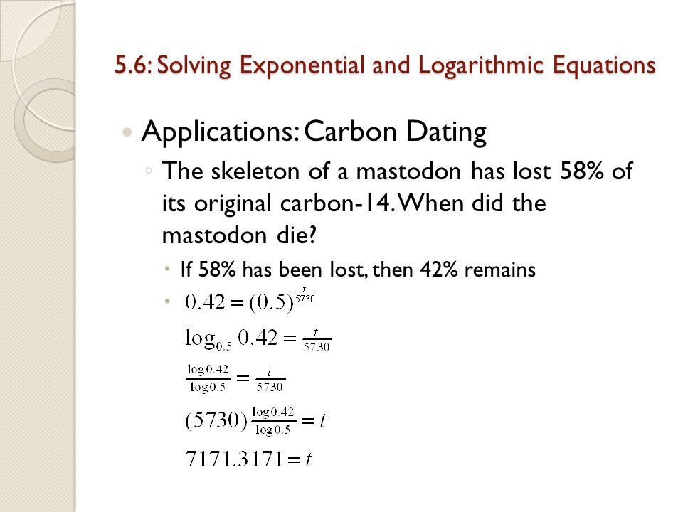 Famous examples of carbon dating
