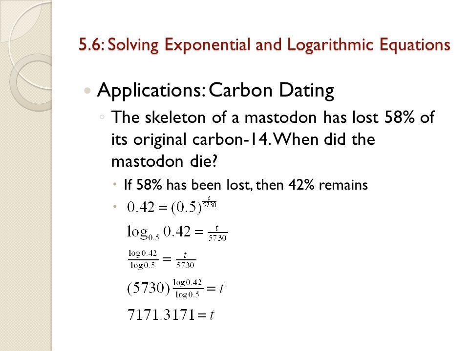 mathematics behind carbon dating