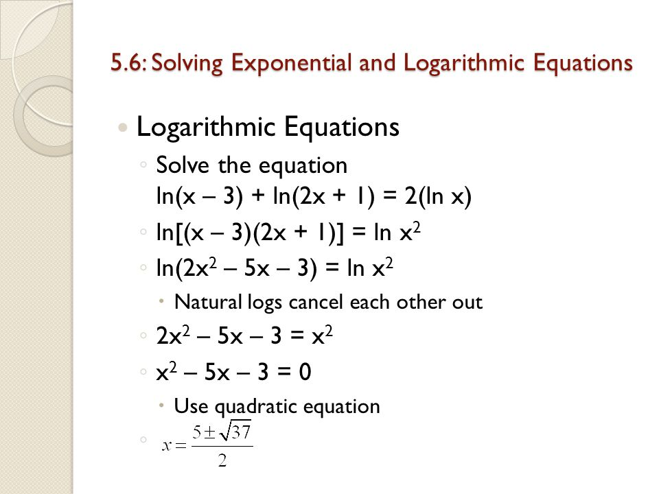 Chapter 5: Exponential and Logarithmic Functions 5 - ppt ...
