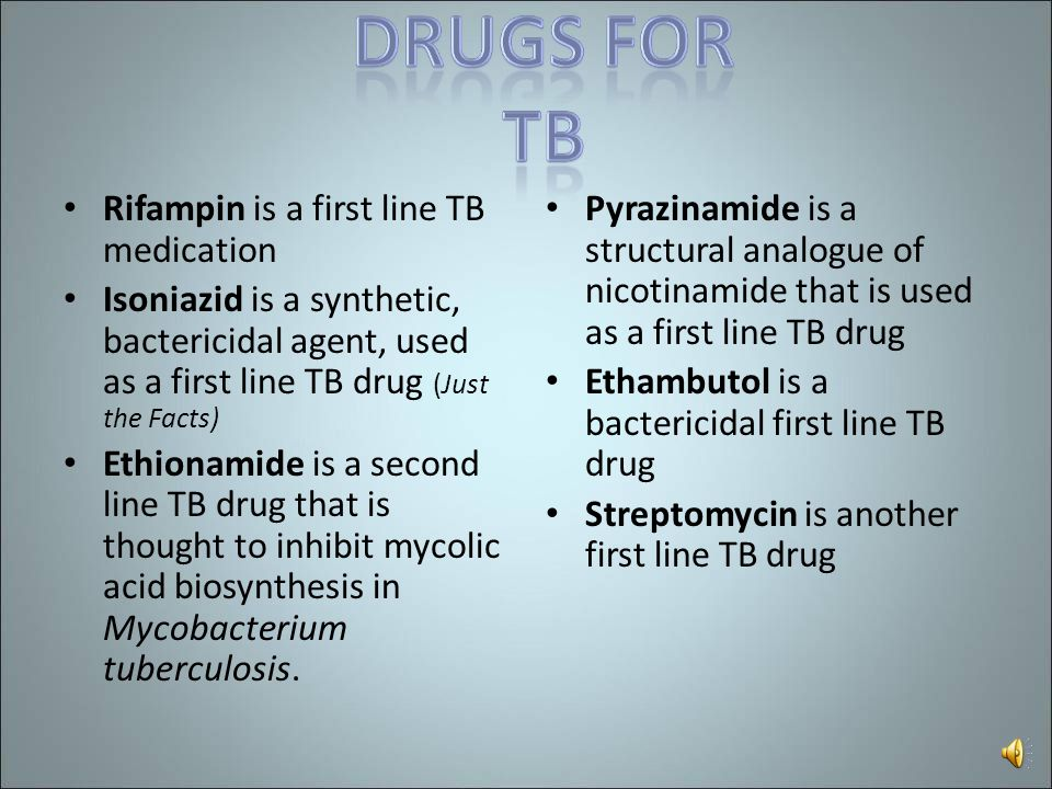 Rifampin is a first line TB medication