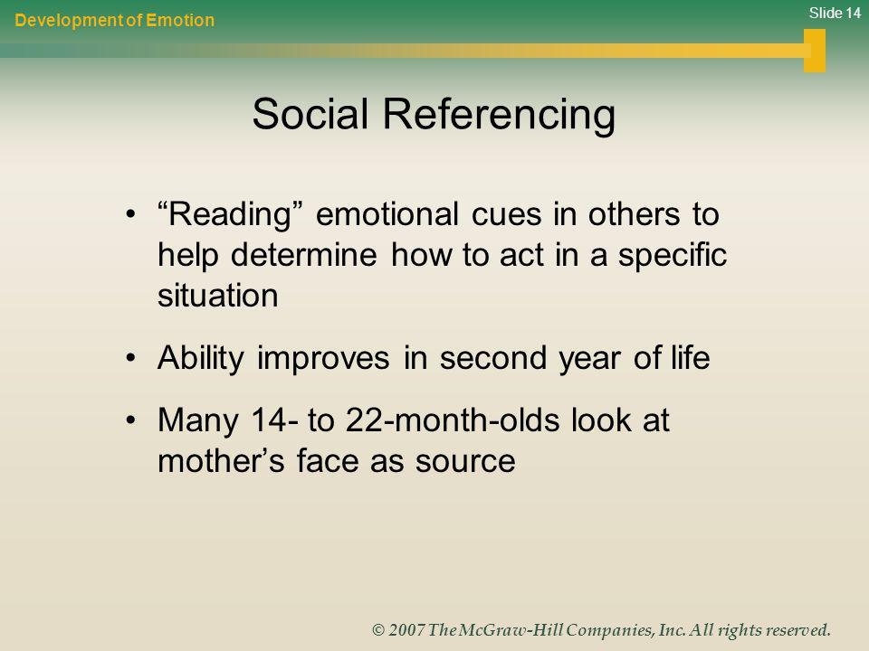 Development of Emotion