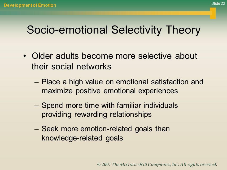 Socio-emotional Selectivity Theory
