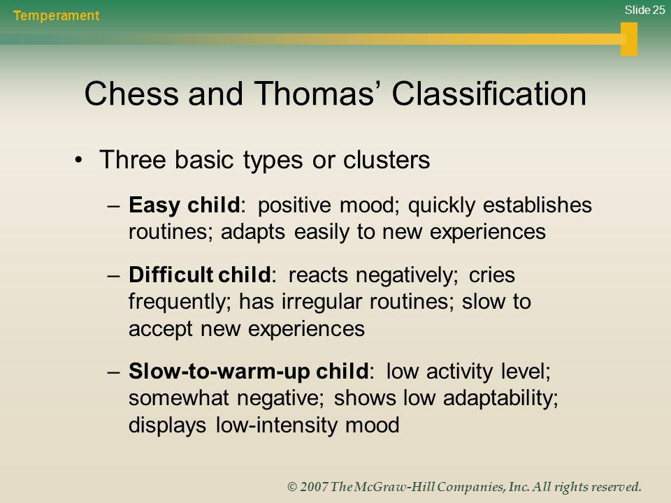 Chess and Thomas' Classification