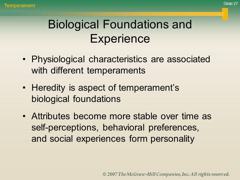 Biological Foundations and Experience