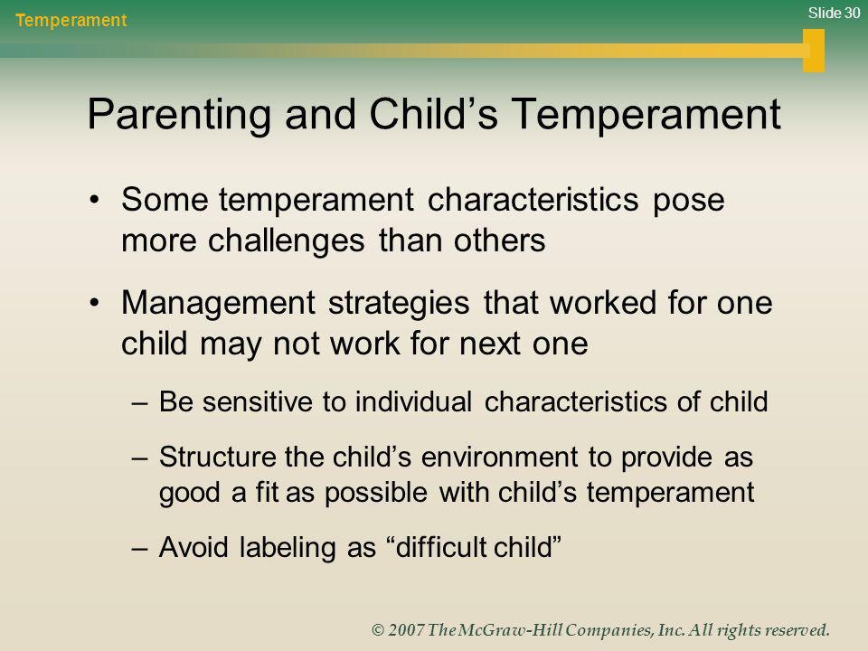 Parenting and Child's Temperament