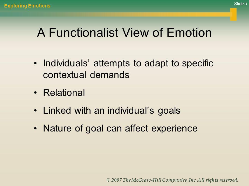 A Functionalist View of Emotion