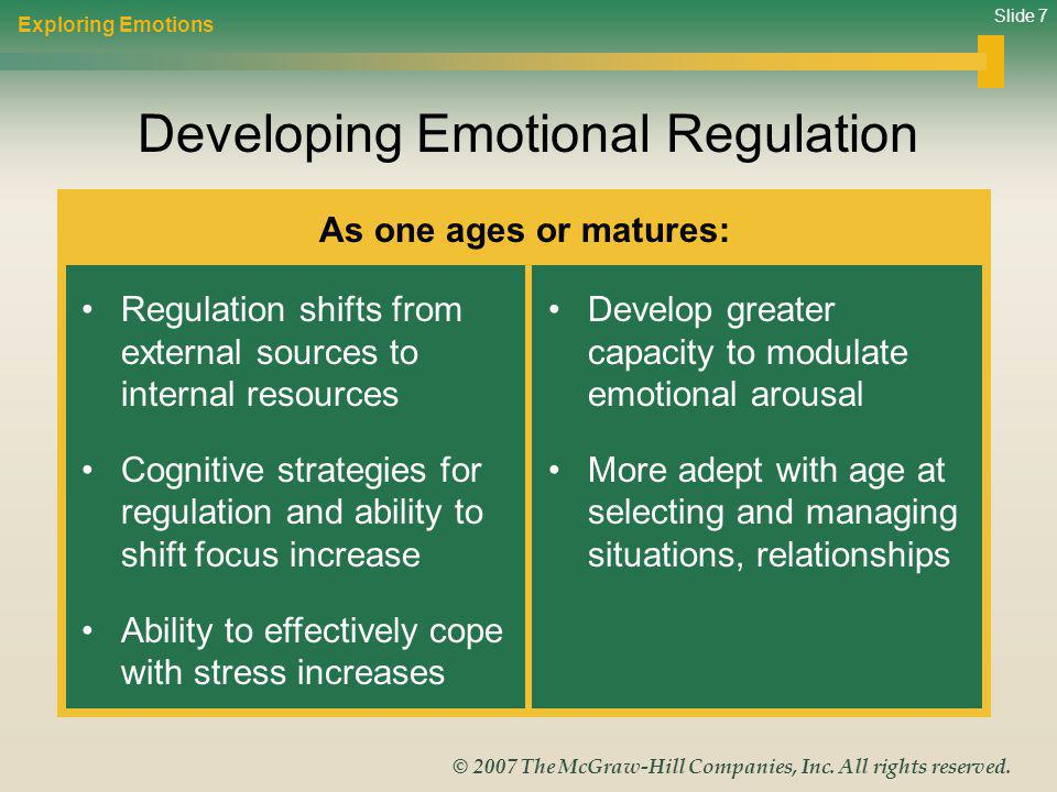 Developing Emotional Regulation