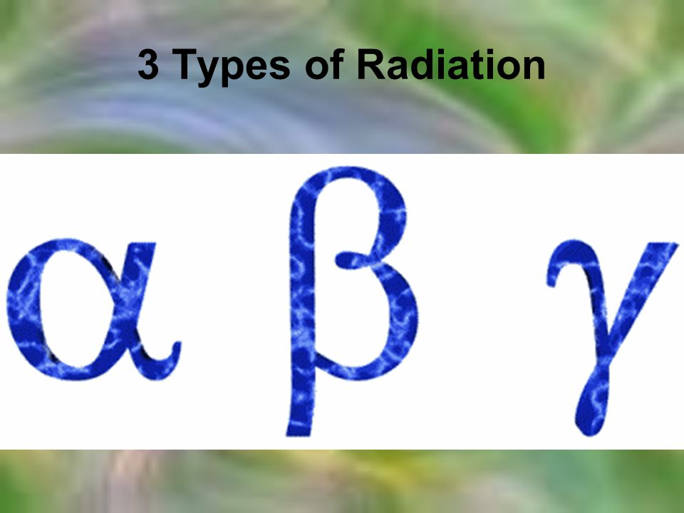 3 Types of Radiation