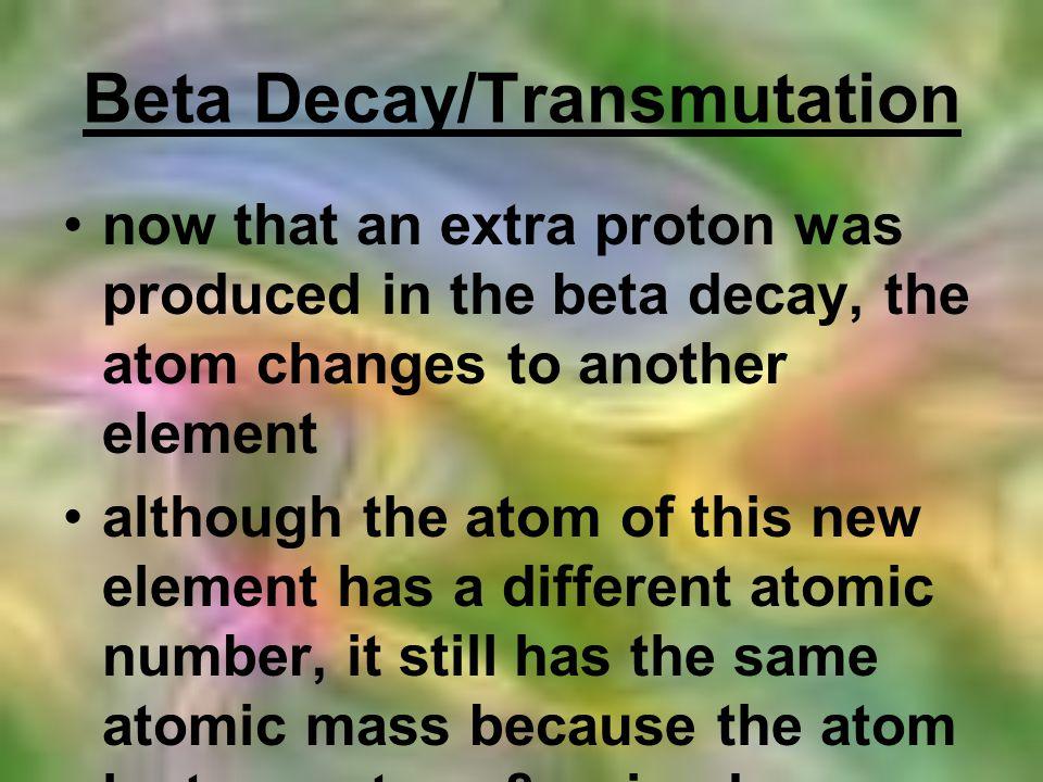 Beta Decay/Transmutation