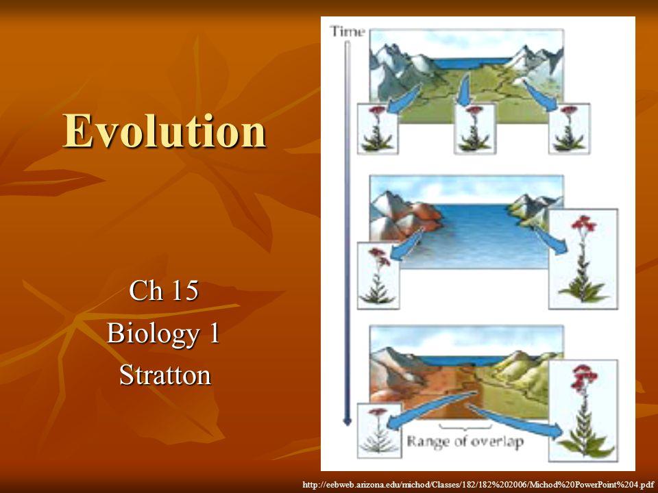 Evolution Ch 15 Biology 1 Stratton