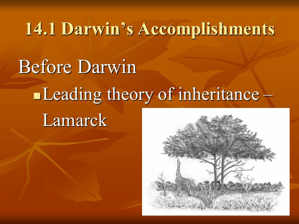 14.1 Darwin's Accomplishments