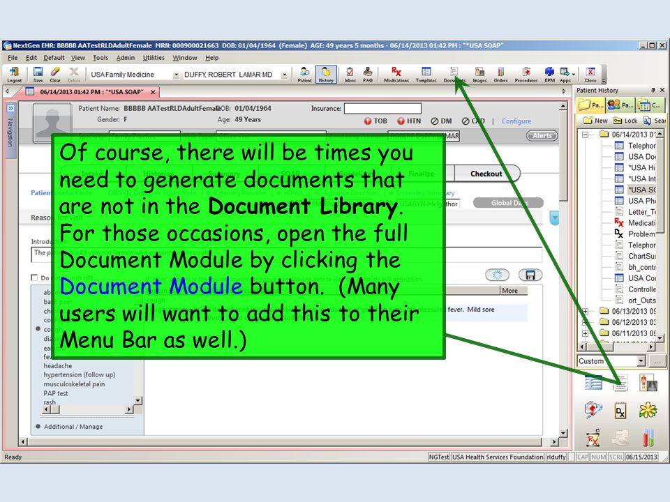 Of course, there will be times you need to generate documents that are not in the Document Library.
