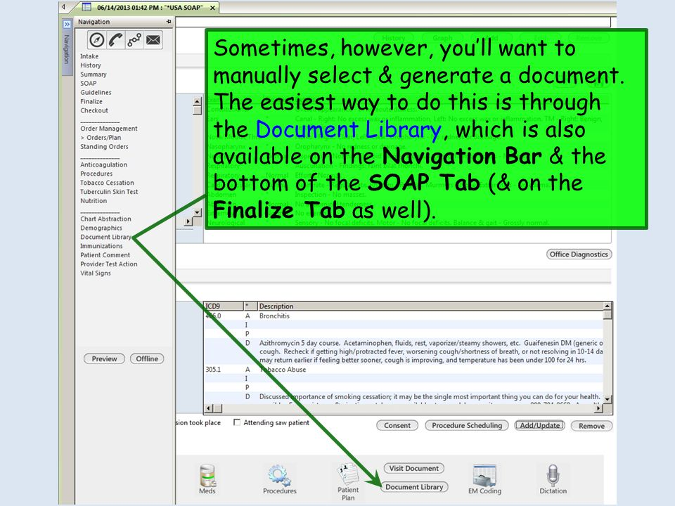 Sometimes, however, you'll want to manually select & generate a document.