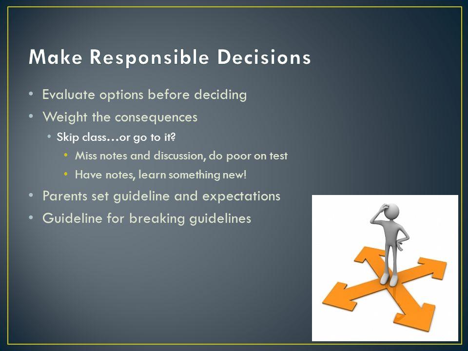 Make Responsible Decisions