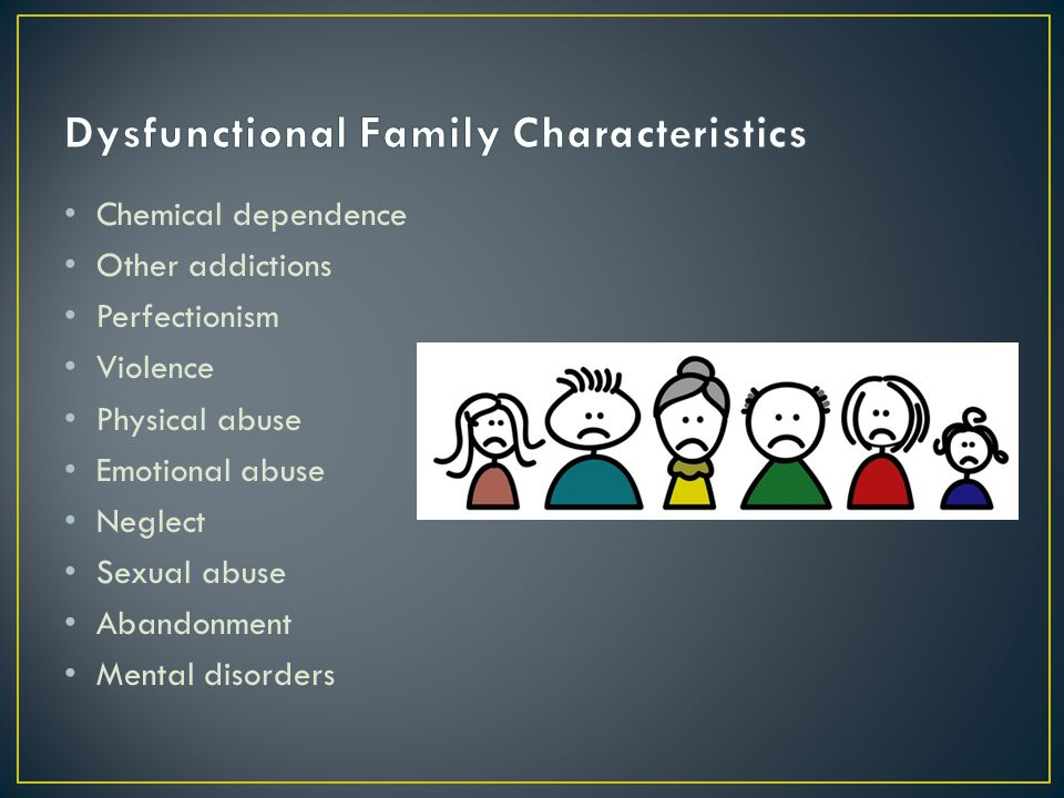Dysfunctional Family Characteristics