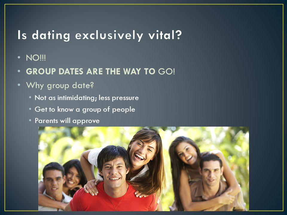 Is dating exclusively vital