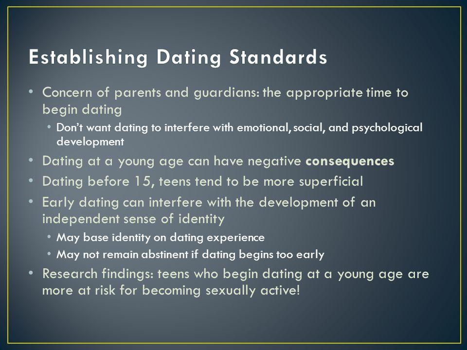Establishing Dating Standards