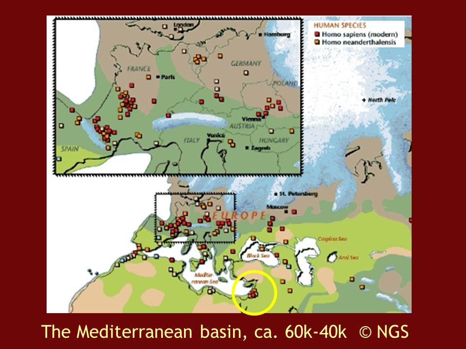 The Mediterranean basin, ca. 60k-40k © NGS
