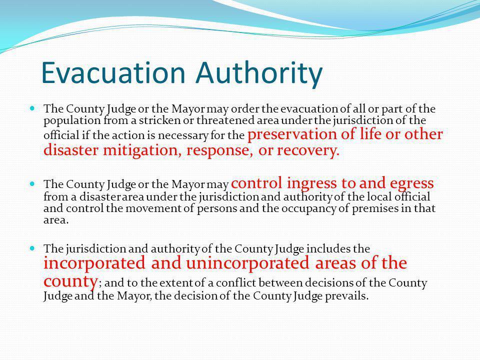 Evacuation Authority