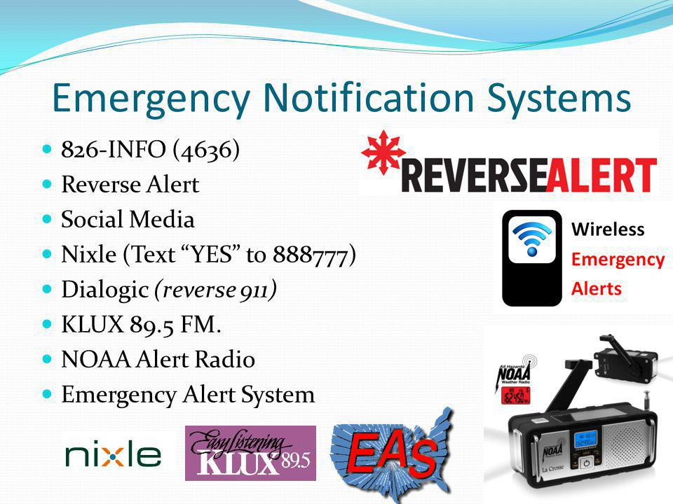 Emergency Notification Systems