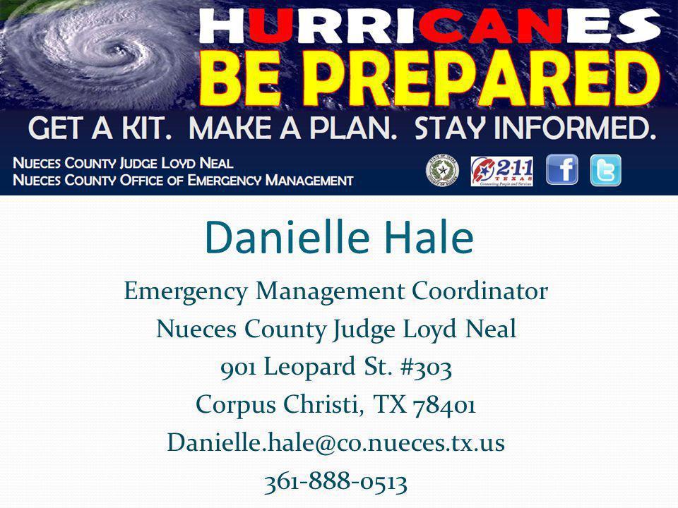 Danielle Hale Emergency Management Coordinator