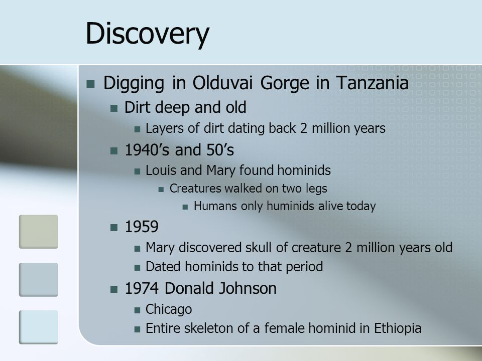Discovery Digging in Olduvai Gorge in Tanzania Dirt deep and old
