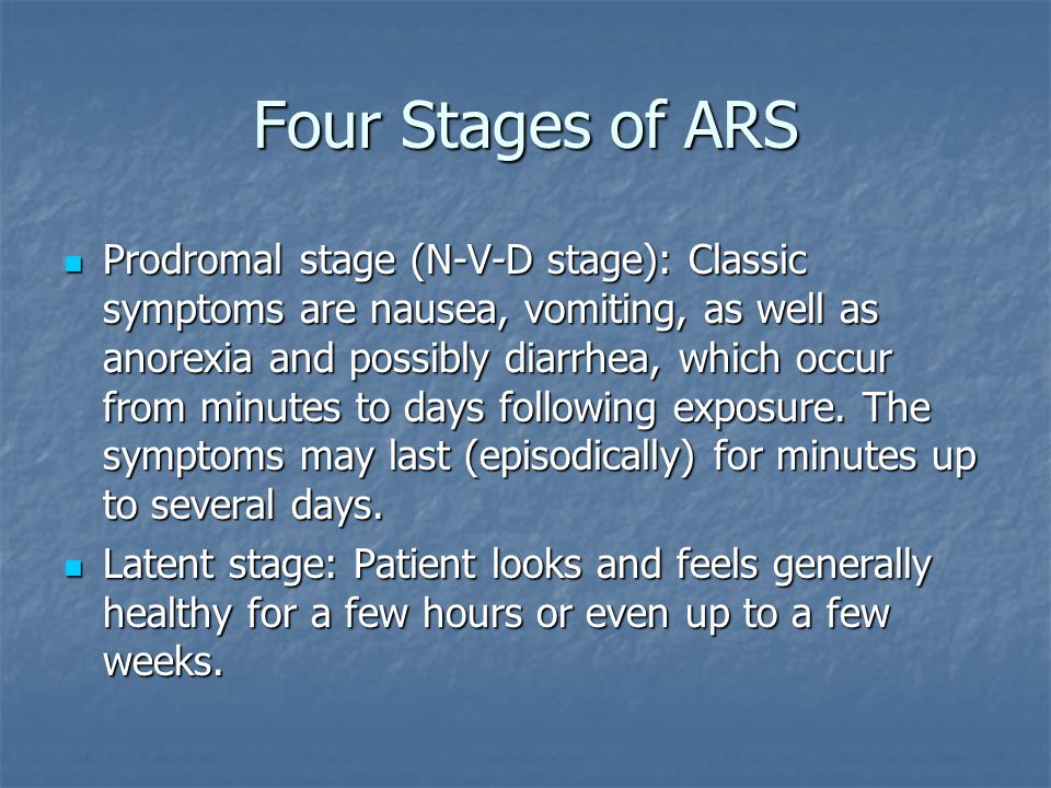 Four Stages of ARS