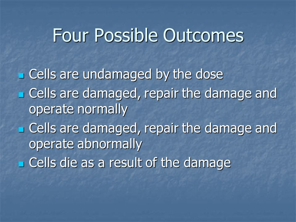 Four Possible Outcomes