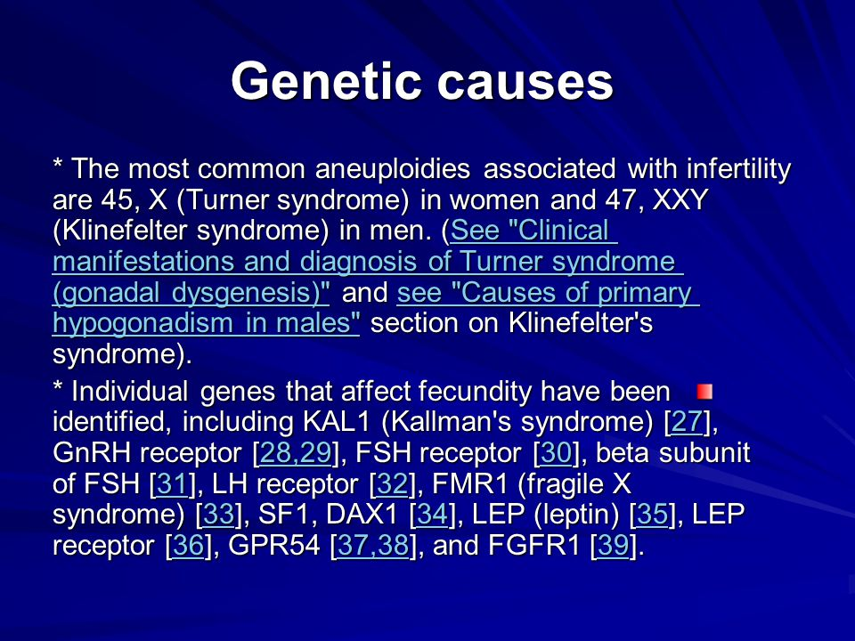 Genetic causes