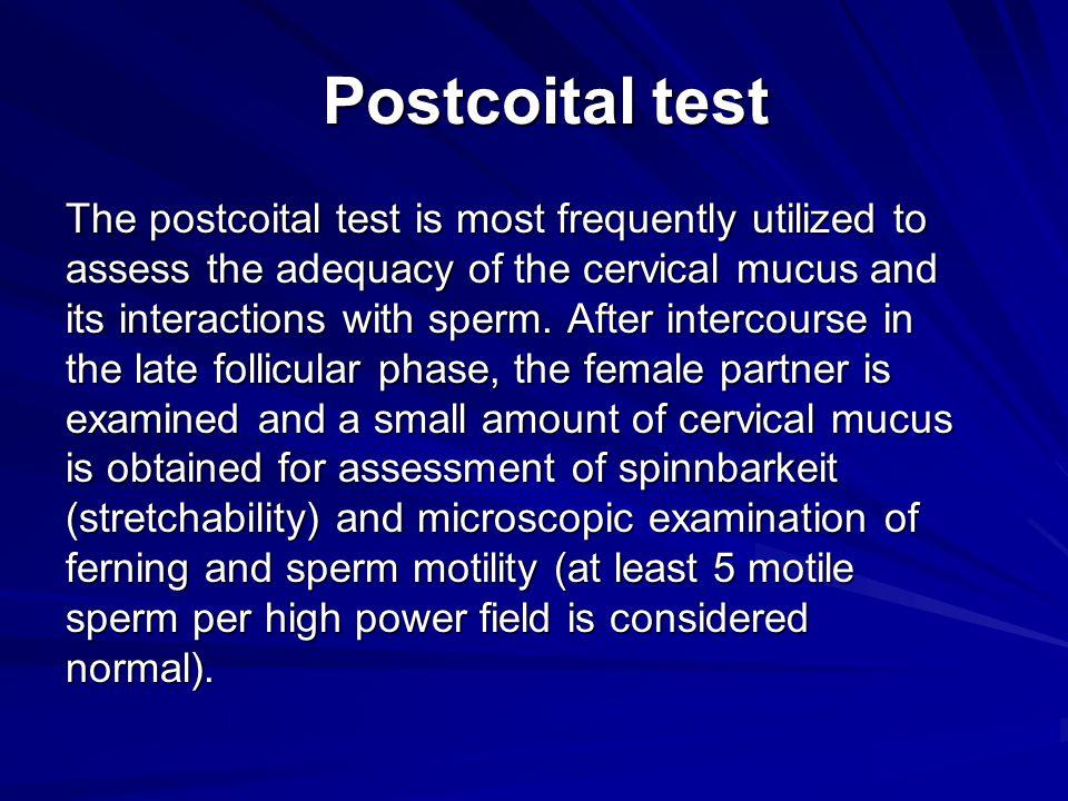 Postcoital test
