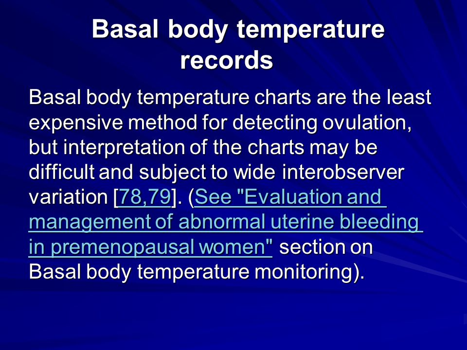 Basal body temperature records