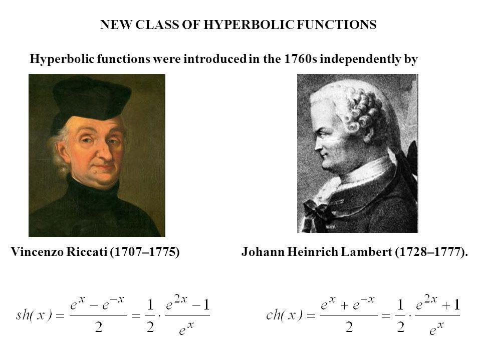 NEW CLASS OF HYPERBOLIC FUNCTIONS