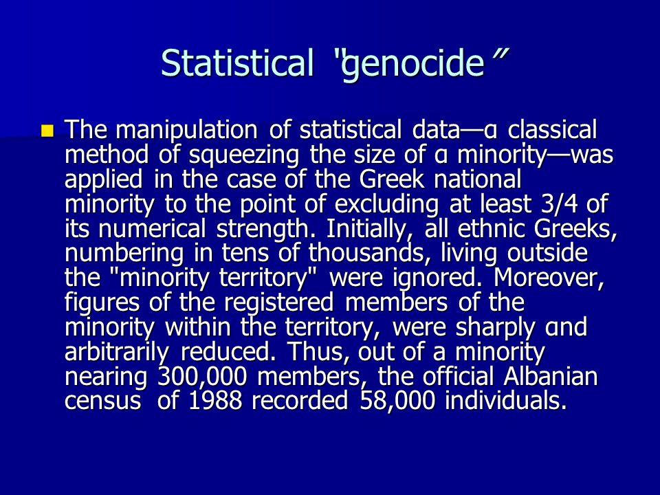 Statistical genocide