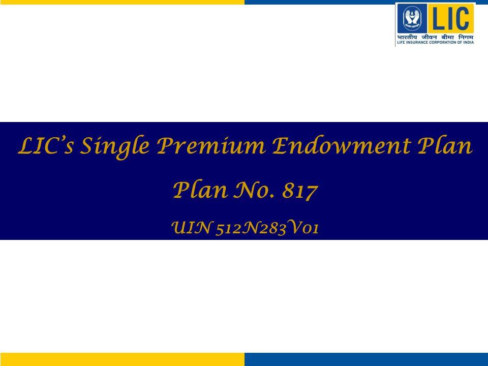 LIC's Single Premium Endowment Plan