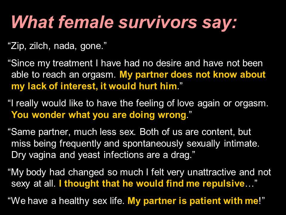 What female survivors say: