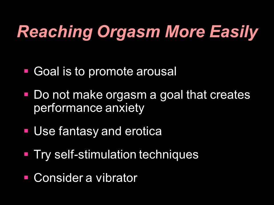 Reaching Orgasm More Easily
