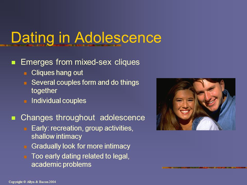 Dating in Adolescence Emerges from mixed-sex cliques