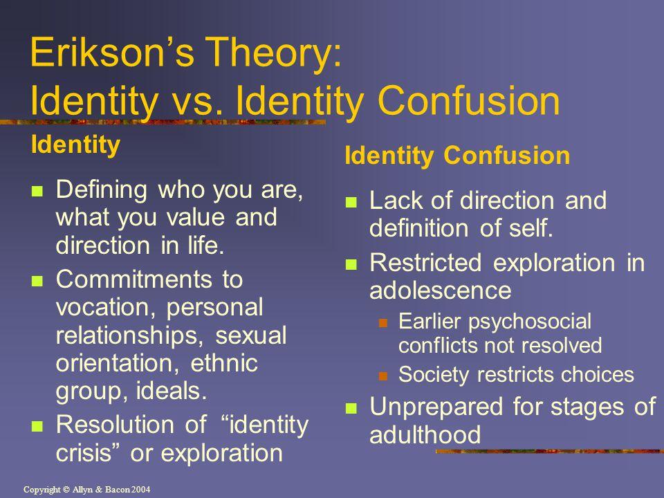 Erikson's Theory: Identity vs. Identity Confusion