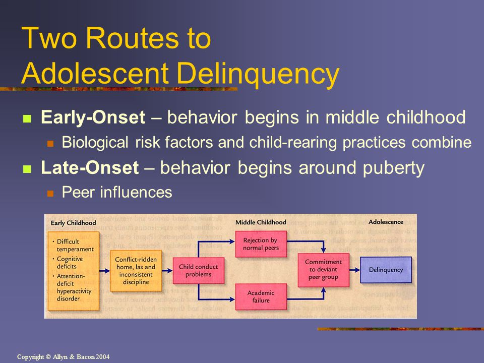 Two Routes to Adolescent Delinquency