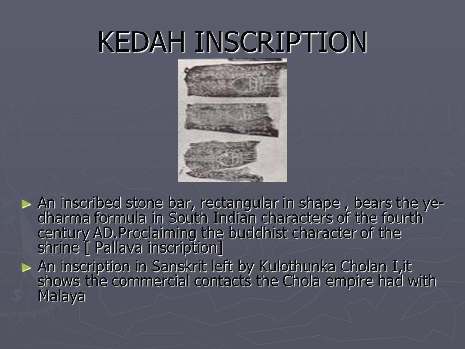 KEDAH INSCRIPTION
