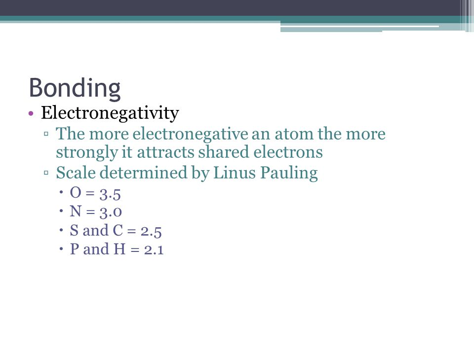 Bonding Electronegativity