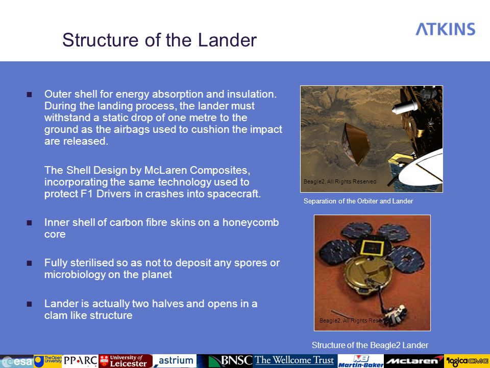 Structure of the Lander
