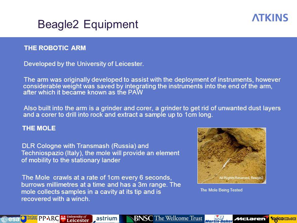 Beagle2 Equipment THE ROBOTIC ARM