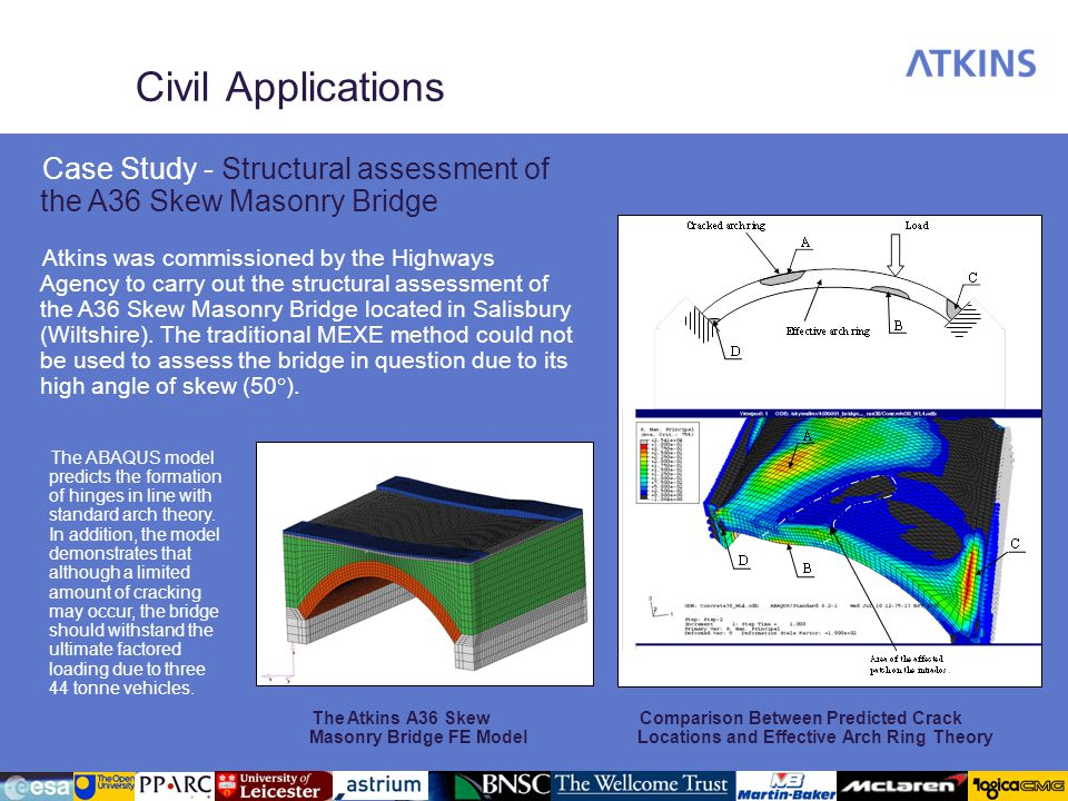 Civil Applications Case Study - Structural assessment of the A36 Skew Masonry Bridge.