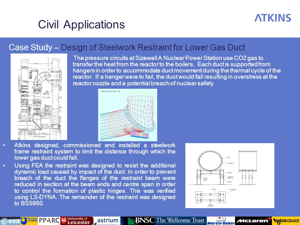 Civil Applications Case Study – Design of Steelwork Restraint for Lower Gas Duct.