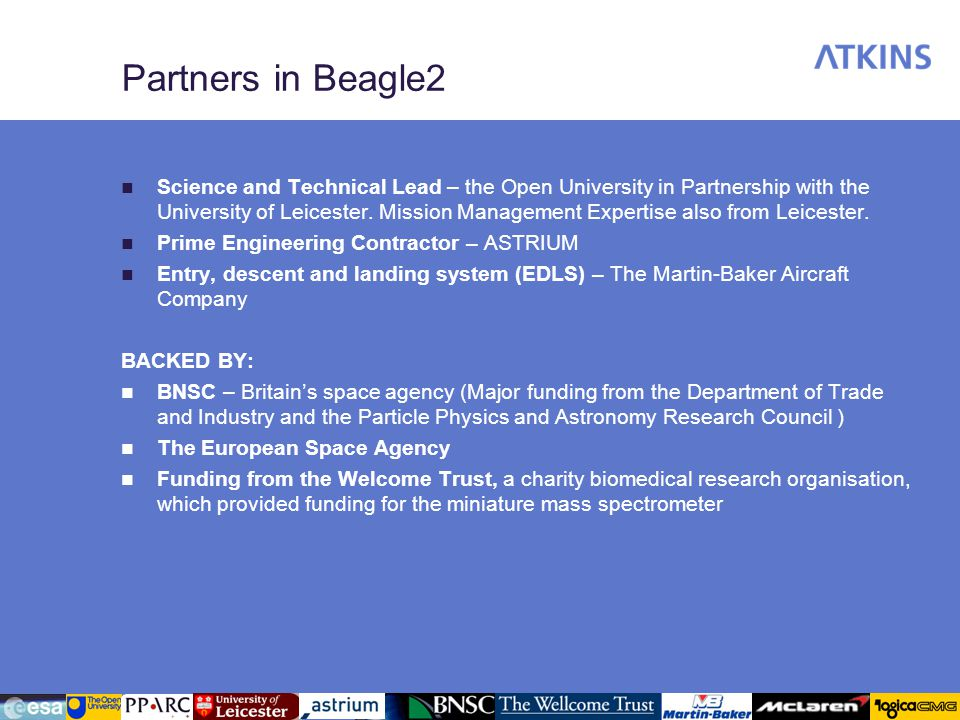 Partners in Beagle2